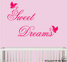 """ Sweet Dreams "" & Butterflies Removable Wall sticker for kids room/nursery"