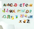 26 Alphabets Animals Wall Decal Removable Stickers Kids Baby Art Mural Decor AU
