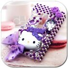 Purple Hello Kitty Cute Bling Rhinestone Crystal Hard Skin Case Cover For Nokia