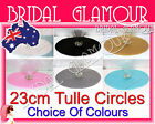 "100-500pc Tulle Circles 23cm (9"") Bomboniere Wedding Favour Rounds Gift Wrap"