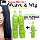 ON Natural Weave & Wig Coco-Lime Conditioner & Detangler [2pc BUNDLE DEAL]
