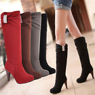 New Hot Sale Women's Over Knees Girl's Sexy Faux Suede High Heels Boots P117