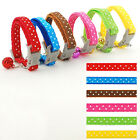 Nylon Small Puppy Kitten Kitty Cat Collar with Bell Variety of Colors 0.8cm Wide