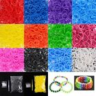 DIY 600PC 12 Color Rainbow Rubber Bands Loom Bracelet Making Kit With S-Clips