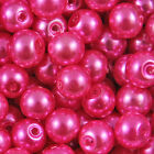 GLASS PEARL Round BEADS 400x4mm 200x6mm 100x8mm 50x10mm 20x12mm <br/> BUY 4 GET 1 FREE (Add 5)✔ ALL COLOURS BACK IN STOCK✔