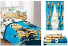 KIDS BOYS DESPICABLE ME MINIONS BEDDING BED IN A BAG / COMFORTER SET-IN 2 PRINTS