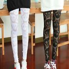 New Sexy Hollow Out Skull Print Women Leggings Trousers Pants Tights Skinny Chic