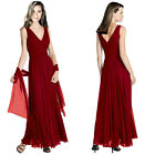 Pleated Flowing Formal Evening Gown Bridesmaid Dress with shawl Burgundy