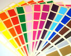 20 x 30mm Rectangle Colour Code Dots Blank Price Stickers Sticky Labels