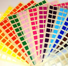 10mm Square 6mm Circle Colour Code Dots Blank Price Stickers Sticky Labels