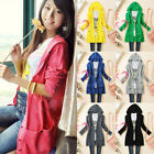 Womens V Neck Knit Cardigan Sweater Jumper Button Top Blouse Hoodies Coat Jacket