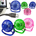 USB Powered Mini Portable Desktop Cooling Desk Fan Computer Laptop Quiet