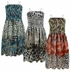 GIRLS ANIMAL PRINT CHIFFON SLEEVELESS DRESS KIDS GATHERED SUMMER TOP SIZE 3-14