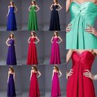 HOT Colorful Sweetheart Wedding Party Bridesmaid Evening Formal Prom Long Dress