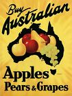 Australia Crate Label Apples Pears Food Fruit Vintage Poster Repro FREE S/H