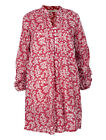 Nomads Raspberry Pink Floral Cotton Tunic Shirt Dress Fair Trade Boho ML45