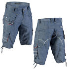 Mish Mash 2135 Jack Strap Mens Denim Cargo Summer Shorts Sizes 28 40 WAS £59.99