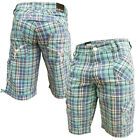 Mish Mash 2135 Chris Coe Check Mens Cargo Combat Shorts Sizes 28-40 WAS £59.99
