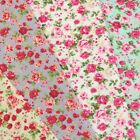 Ditsy Floral Pink Roses Polycotton Fabric