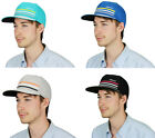 Adidas Men's Flat Bill 3 Stripe Fitted Trucker Cap Hat, Several Colors