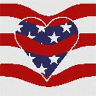 Flag Wave Needlepoint Kit or Canvas (Heart Valentine)