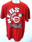 Cincinnati Reds Baseball Adult Reds Cincinnati Short Sleeve T-Shirt Heather Red