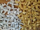 25 GOLD OR SILVER LUREX BOWS CHRISTMAS CARD MAKING SCRAPBOOKING EMBELLISHMENTS