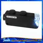 Free shiping NEW 160-200x Zoom LED Lighted Pocket Microscope Handheld Magnifer