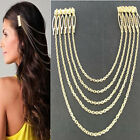 New Fashion Lady Gold Gothic Rivet Punk Style Ear Cuff Earring Tuck Comb Hairpin