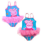 Girls Kids Peppa Pig Swimsuit 2-6Y Bikini Swimwear Tutu Skirt Swimming Beachwear