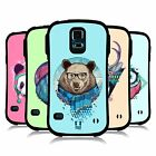 HEAD CASE DESIGNS FAUNA HIPSTERS HYBRID TPU BACK CASE FOR SAMSUNG GALAXY S5