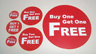 Buy One Get One Buy Two Get One Stickers / Labels / Price Point