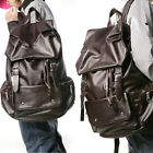 2014 Womens/Mens Faux Leather School College Satchel Bag Travel Backpack Bookbag