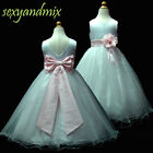 USM3D59B Pink Christmas Easter bridesmaid Wedding Flower Girls Dress 1 to 13Yrs