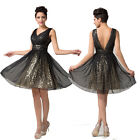 Women New Sexy V Neck Bridesmaid Homecoming Evening Gown Bridal Prom Party Dress