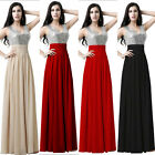 Long V-neck Sequined Top Bridesmaid Dresses Junior Wedding Party Prom Girls Gown