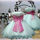 USM1D70 White Hot Pink Formal Communion Bridesmaid Girls Dress Ages 1 to 14
