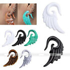 Acrylic Angel Wing Spiral Taper Ear Plug Expander Stretcher Tunnel Body Piercing