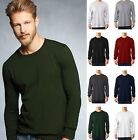 ANVIL Adult Men's 100% Cotton Midweight Long Sleeve Tee Shirt S-3XL 784-New!!