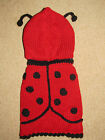 Knitted dog jumper LadyBug dog sweater puppy pets coat jacket costume