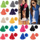 New Women Lady Long Big Crinkle Voile Scarf Wrap Shawl Stole Pure Candy 25 Color