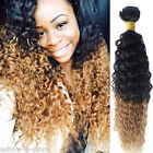 High Quality New ombre color  BRAZILIAN VIRGIN 50g 1B/27# CURLY HUMAN HAIR HOT