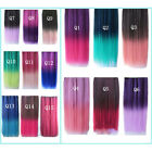 Brand New Women's Rainbow Hair Extensions Straight Synthetic Clip in on#uswbly01