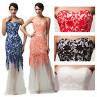 Sexy Lace Bride Formal Wedding Long Evening Party Prom Womens Dress Masquerade