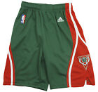 Adidas NBA Basketball Youth Milwaukee Bucks Swingman Shorts - Green / Red