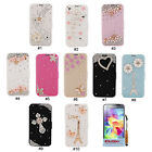 3D Rhinestone Design PU Wallet Flip Stand Case Cover For Samsung Galaxy S5 i9600