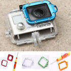 Aluminum Lens RING Mount Bumper Cover Metal LANYARD For GoPro Go Pro Hero 3 dfa
