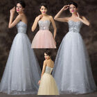 lady Long Formal Wedding Brides Evening Prom Party Cocktail Dress 6-20 FREE SHIP