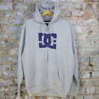 DC Basic Logo Casual Motox/Rally/Skate Zip-Up Hoodie Heather Grey Size L