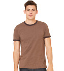 Bella+Canvas Mens Heather Ringer Jersey Tee Tshirt T-Shirt-C3055-3055-8 COLORS!